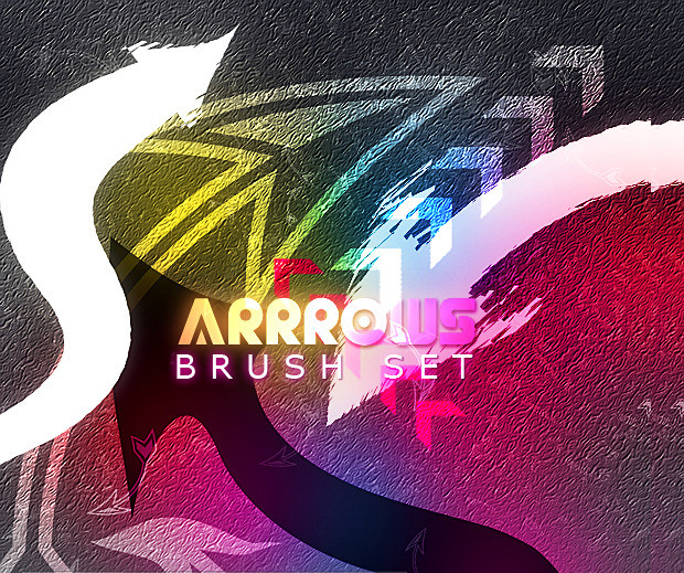 15 colorfull arrow brush set