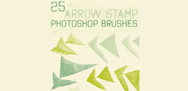 25 stamp arrow brushes