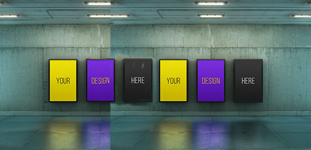 Urban Subway Lightbox Mock-Ups
