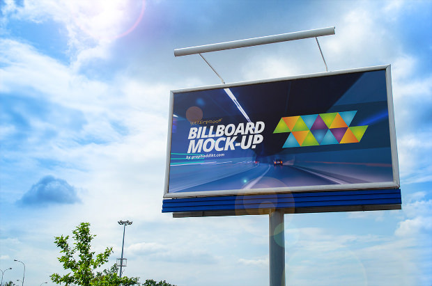 Highway Billboard Banner Mock up