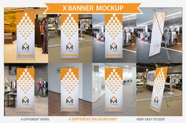 6 different banner mock up