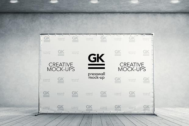 3d banner presswall mock ups