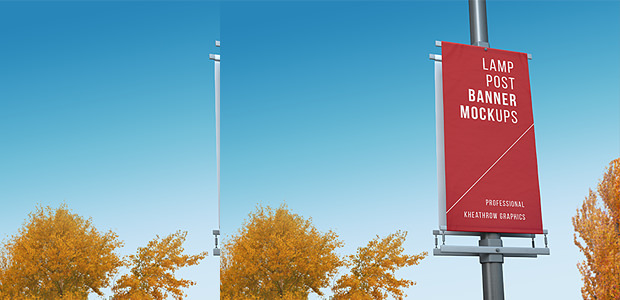 Lamp post Banner Mock up