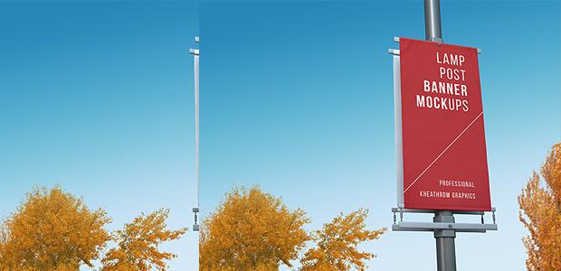 lamp post banner mock up