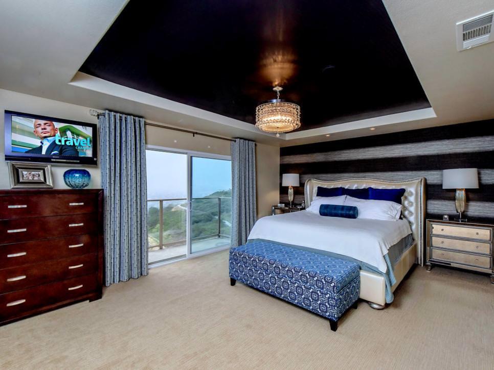 Glamorous Chandelier in Bedroom