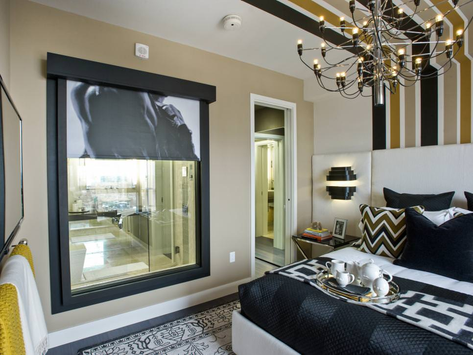 Master Bedroom with Modern Chandelier