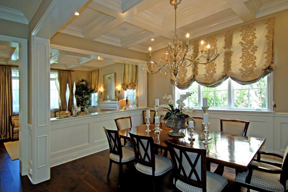 Dining Room with designed Chandelier