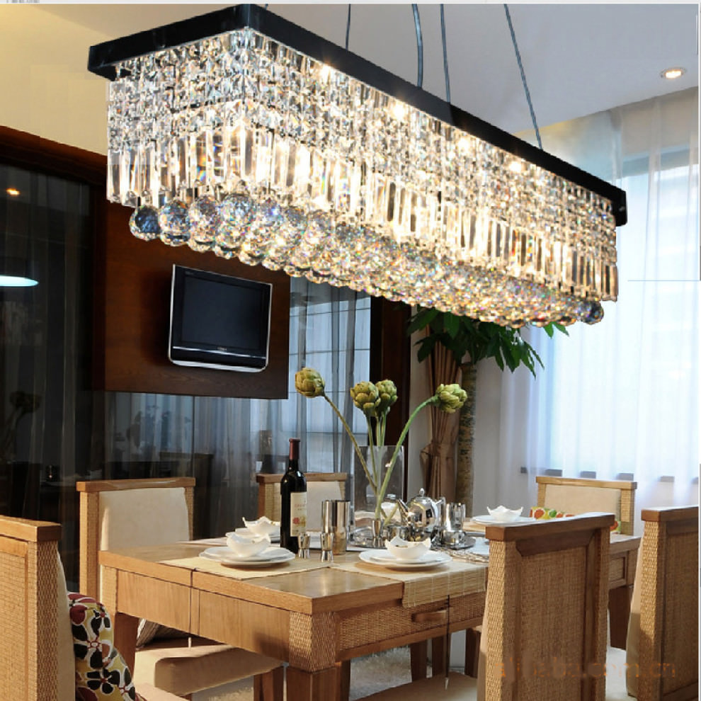 contemporary dining room with rectangular chandelier contemporary dining room with rectangular chandelier mod chandelier contemporary dining room - Contemporary Dining Room Chandeliers