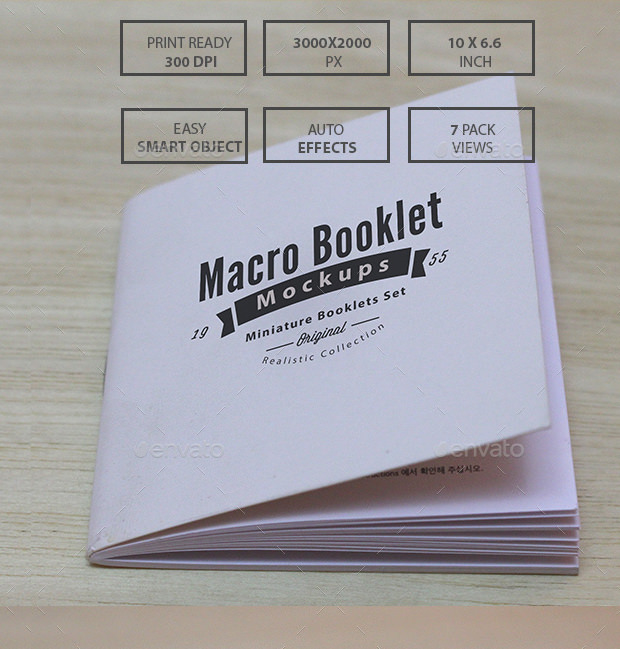 Realistic Miniature Booklet Mockups