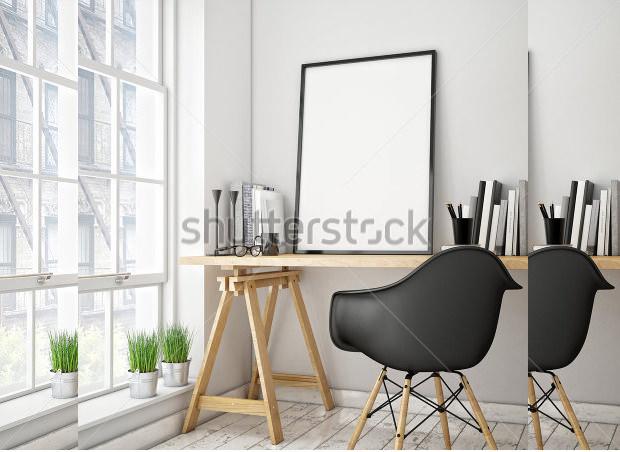 3-D PSD Frame Templates & Mockups