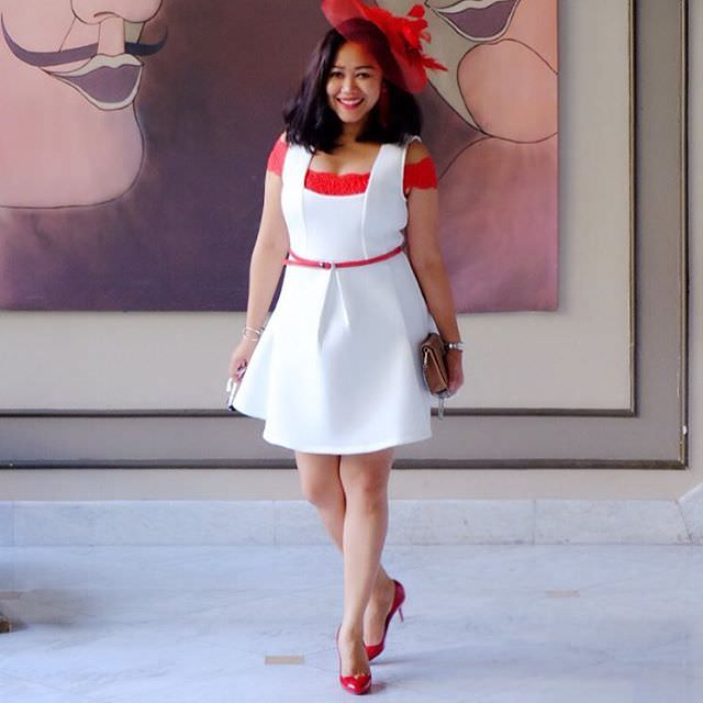 White & Red Outfit