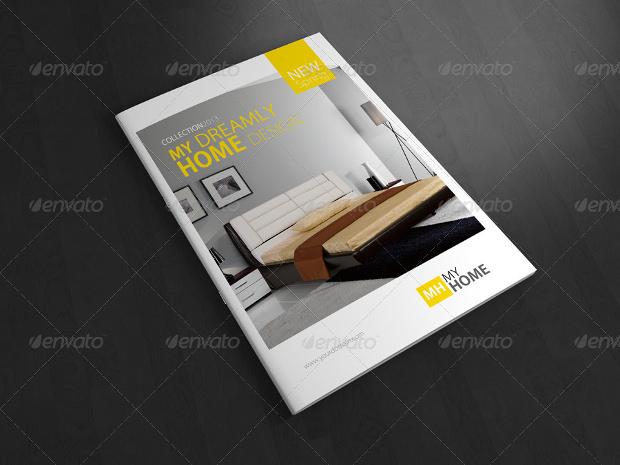 Realistic Presentation A4 Magazine Mockup