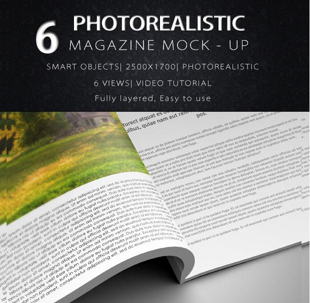 6 Natural Magazine Mockups.