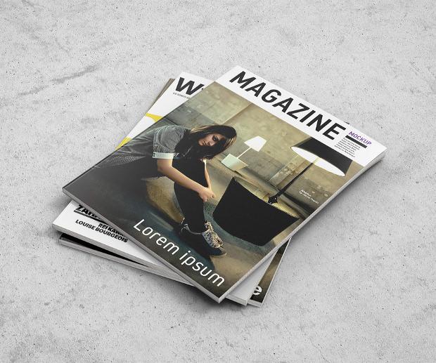 Photorealistic Appearance Magazine Mockup