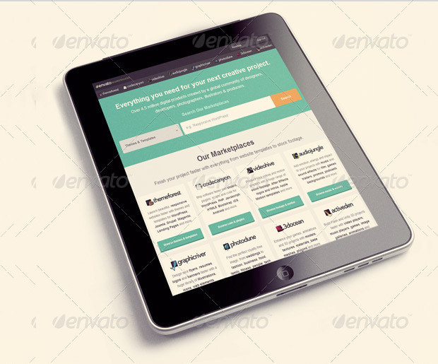 website tablet mockup template1