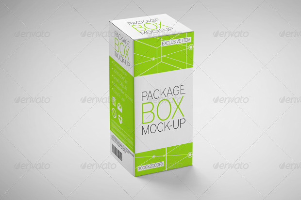 9 Different Package Box Mock up