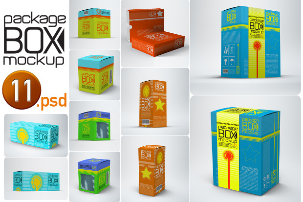 11 Package box mock up
