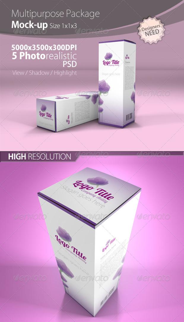 Multipurpose Box|Packaging Mock up