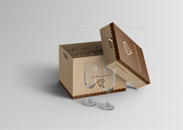 Glass Package box mock up