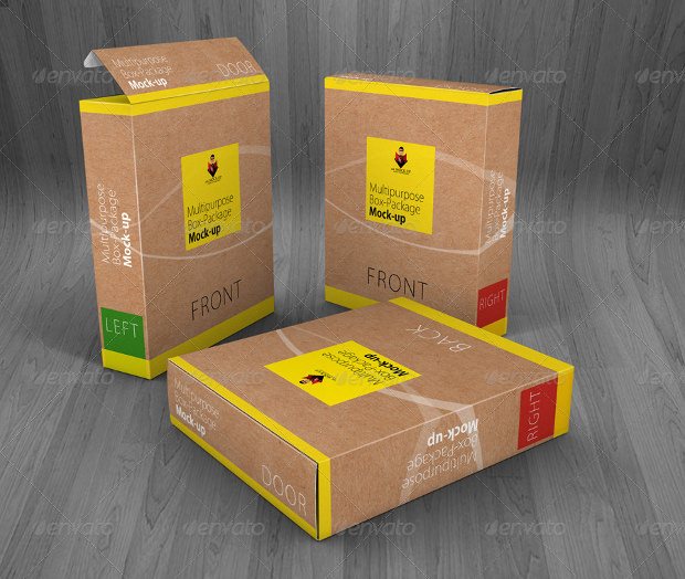 Collection of Package box mock up