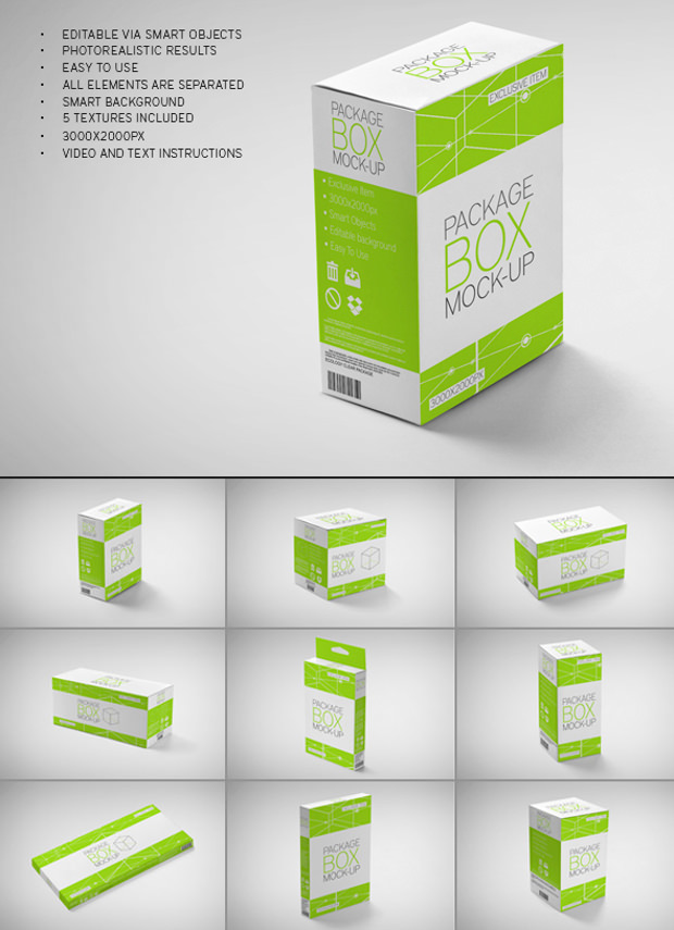 8+ DIfferent Packing box mock up