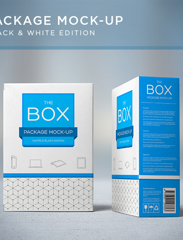Package box with edition mock up