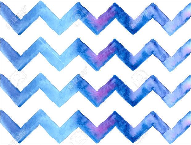 Painted Chevron Zig Zag Pattern