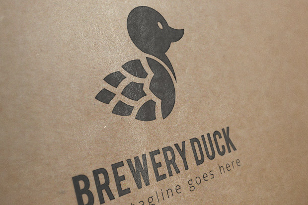 Suitable Duck Logo for Brewery