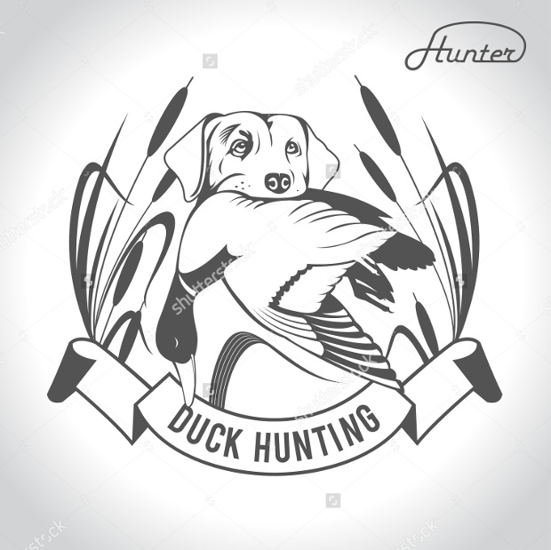 Dog Hunting Duck Logo