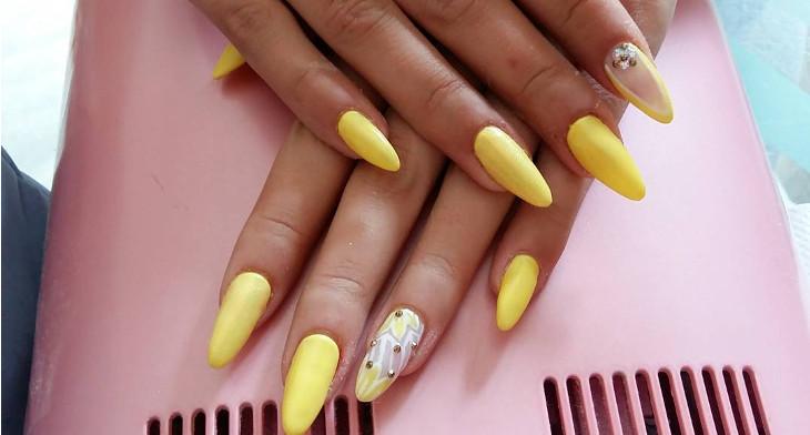 img - 28+ Almond Nail Art Designs, Ideas Design Trends - Premium PSD