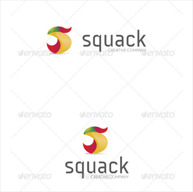 Squack Duck Logo for Multiple Usage