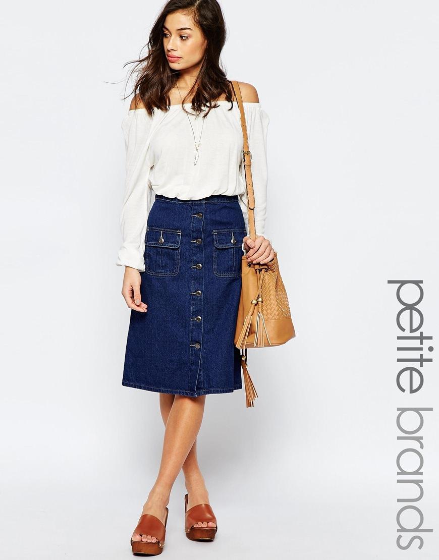 Denim Skirt With Pocket