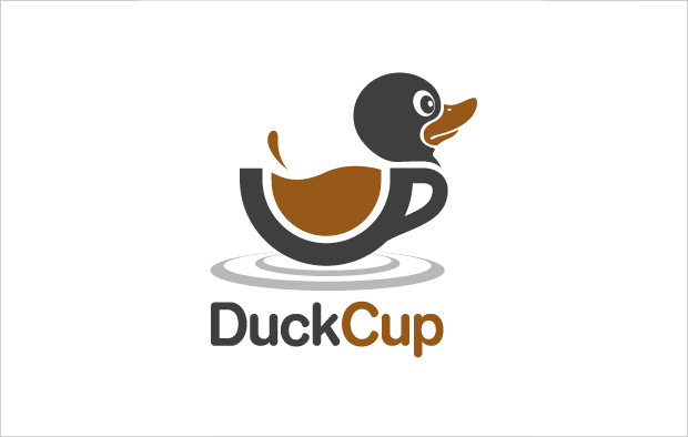 Customizable Duck Cup Logo