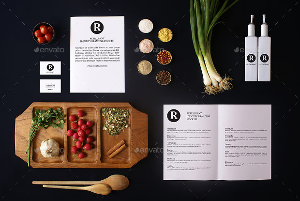 elegant restaurant branding mock up