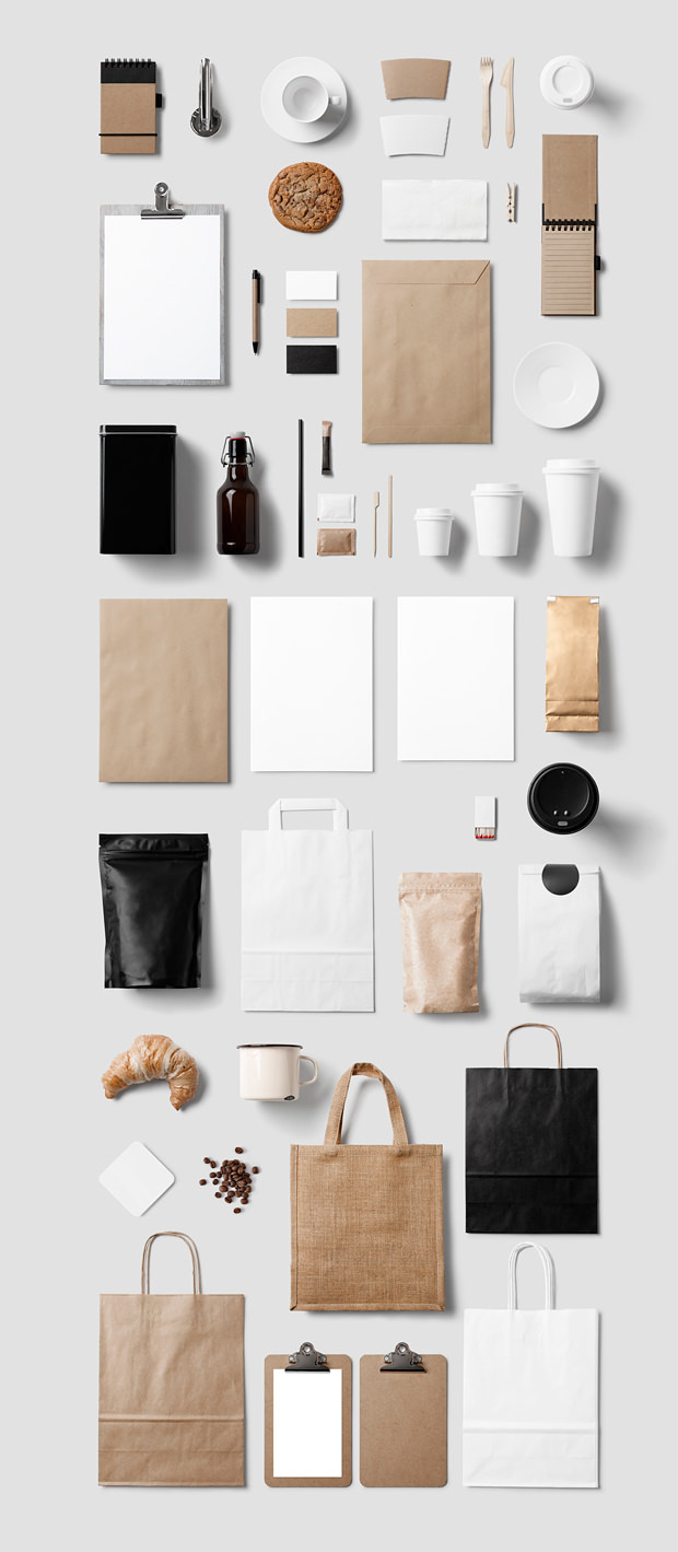 new coffee and restaurant branding mock up