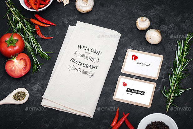 beautiful restaurant branding mock up