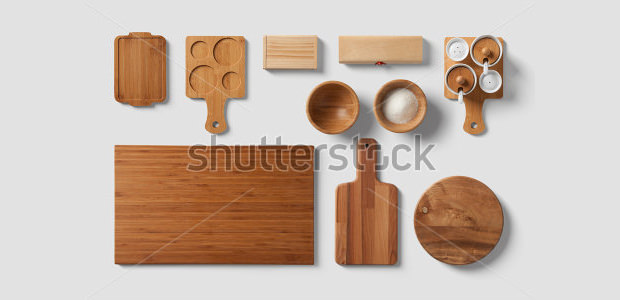 wood restaurant branding mock up