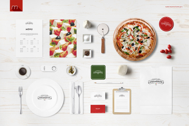 italian restaurant branding mock up