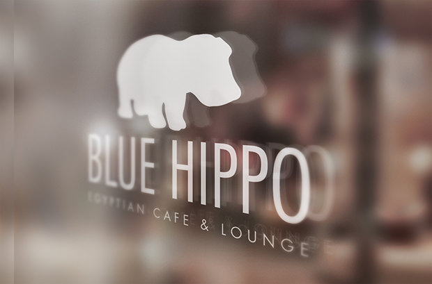 cool new hippo restaurant branding mock up