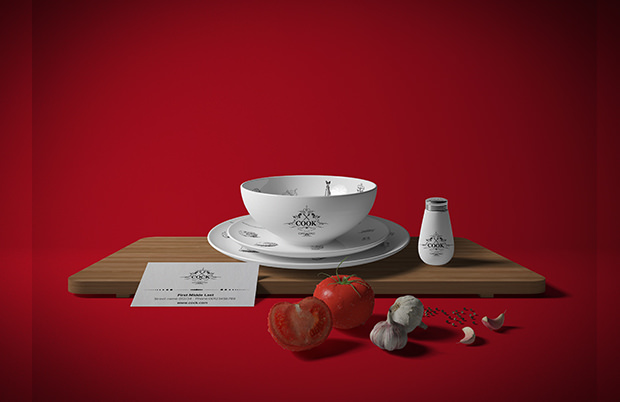 awesome restaurant branding mock up1