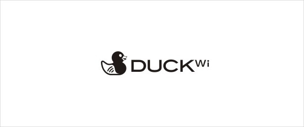 Duck Logo Related to WiFi or Internet App