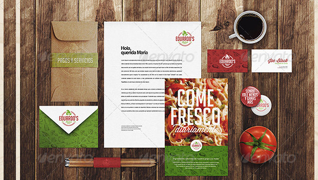 nice restaurant branding mock up
