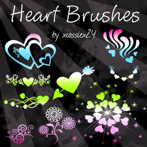 cute heart brushes photoshop