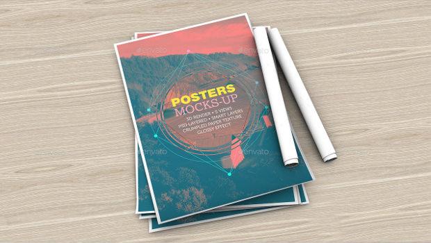 A4 Poster Mockups Set