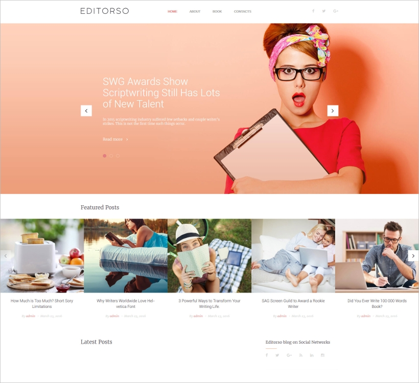 journalist blog wordpress theme