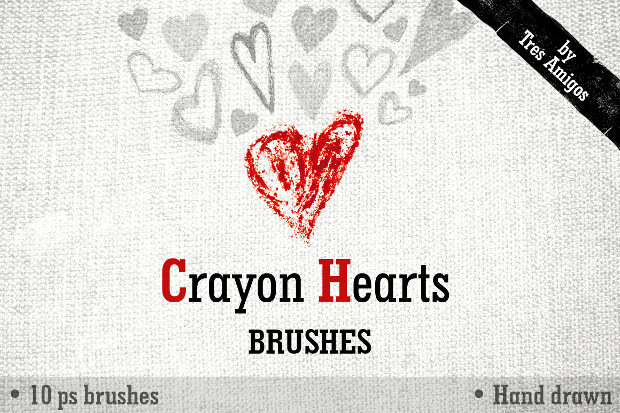 sketchy heart brushes