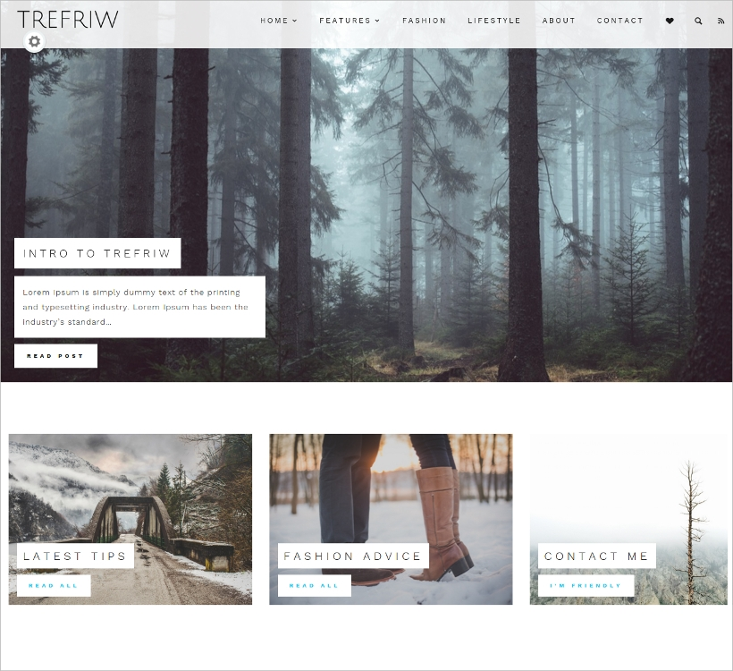 Minimal Blogging Theme