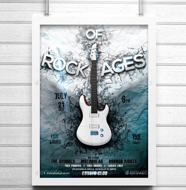 A4 Light Poster Mockups