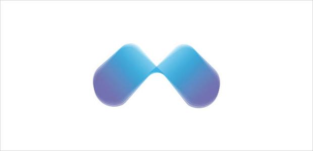 creative blue color mountain logo illistration
