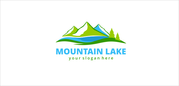 business symbol mountain logo illistration